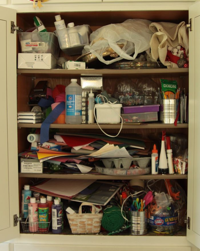 Messy Kitchen Drawer: Craft Cupboard » Whatever